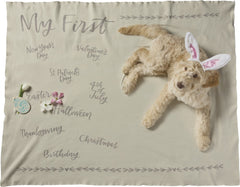 'My First' Holiday Milestone Swaddle Blanket by PBK