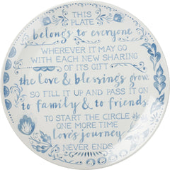 'Blessing Plate' - Fill It Up And Pass It On by PBK