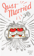 Just Married pin with card by PBK