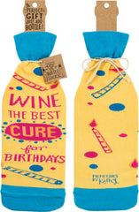 Wine the best cure for birthdays wine bottle bag