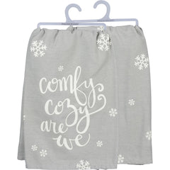 'Comfy Cozy Are We' Kitchen Towel by PBK