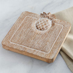 Wood Pineapple Trivet by Mud Pie
