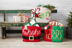 Christmas Dazzle Totes by Mud Pie - Choice of Style