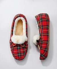Sherpa Lined Moccasin Slippers by Charlie Paige