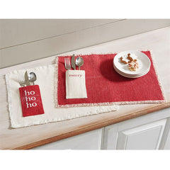 Christmas Pocket Placemats by Mud Pie - Choice of Design