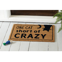 One Cat Short of Crazy Doormat by Mud Pie