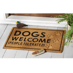 Dogs Welcome People Tolerated Doormat by Mud Pie