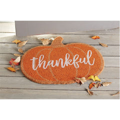 Thankful Pumpkin Doormat by Mud Pie