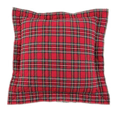 Quilted Tartan Pillow by Mud Pie