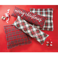 Long Tartan Pillows by Mud Pie - Choice of Color
