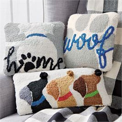 Mini Hooked Dog Pillows by Mud Pie