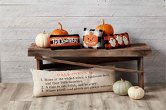 Halloween Mini Hooked Pillows by Mud Pie - Choice of Style
