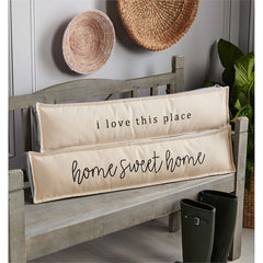 Long Gray Welcome Pillows by Mud Pie - Choice of Saying