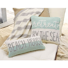 Beach Hooked Pillows by Mud Pie
