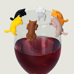 'Paws Off' Kitten Drink Markers - Set of 6