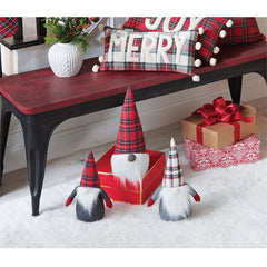 Christmas Tartan Gnomes by Mud Pie