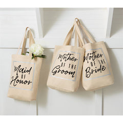 Wedding Tote Bags by Mud Pie - Choice of Saying