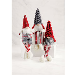 Plaid Dangle Leg Gnomes by Mud Pie - Choice of Style