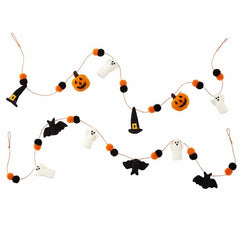 Halloween Pom Garland by Mud Pie - Choice of Style