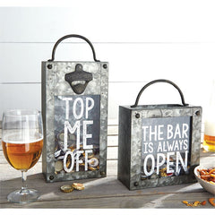 Tin Bottle Cap and Wine Cork Display Boxes by Mud Pie