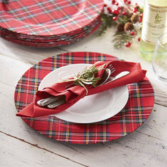 Tartan Christmas Charger by Mud Pie