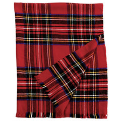 Red Tartan Plaid Blanket by Mud Pie