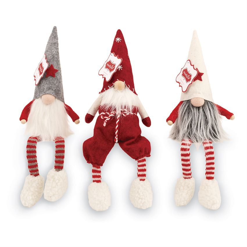 gnome shelf sitter by mud pie 3 styles available - Mud Pie Christmas
