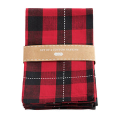 Buffalo Check Napkins by Mud Pie - Choice of Style
