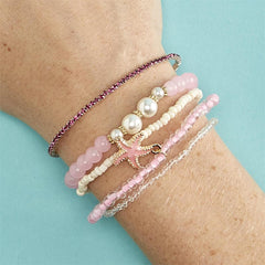 'Mermaid' Stretch Bracelet Stack