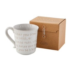 Hospitality Mugs by Mud Pie - Choice of Saying