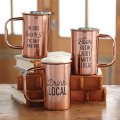 Stainless Steel Beer Stein by Mud Pie