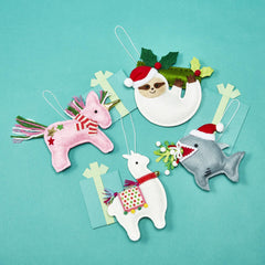 Magical Christmas Felt Ornaments - Choice of Style