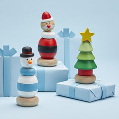 Holiday Hand-Crafted Stacking Toys - Choice of Style