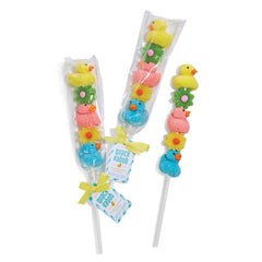 Marshmallow Duck and Jelly Flower Lollipop