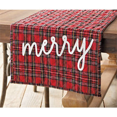 Tartan Table Runner by Mud Pie
