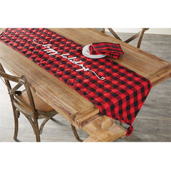 Buffalo Check Table Runner by Mud Pie