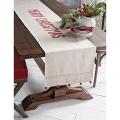 Merry Christmas Table Runner by Mud Pie