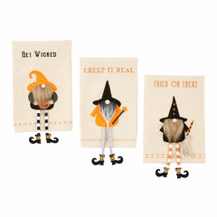 Halloween Dangle Gnome Towels by Mud Pie - Choice of Style