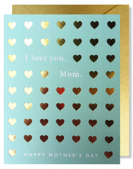 'I Love You Mom' Hearts Greeting Card