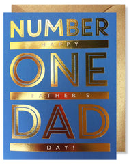 'Number One Dad' Father's Day Greeting Card