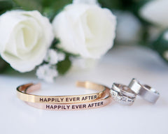 'Happily Ever After' Cuff Bracelet by Lillian & Co.