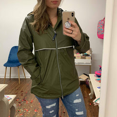 New Englander Rain Jacket in Olive by Charles River Apparel