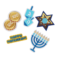 Instant Ugly Sweater Patch Set - Hanukkah