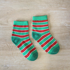 Kid's Christmas Stripe Socks
