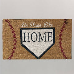 'No Place Like Home' Baseball Coir Doormat