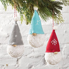 Gnome Pom Pom Ornaments by Mud Pie - Choice of Style