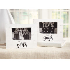 Distressed 'The Girls' or 'The Guys' Block Frame by Mud Pie
