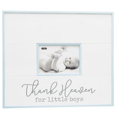Thank Heaven For Little Boys' Distressed Frame by Mud Pie