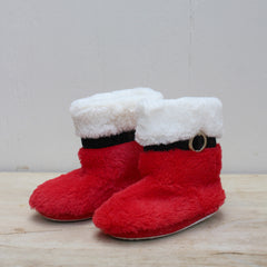 Kid's Santa Bootie Slippers