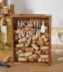 'Home is Where the Wine is' Wine Cork Box by Mud Pie